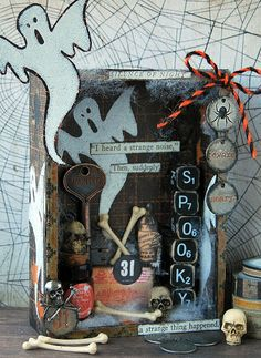 Kath's Blog......diary of the everyday life of a crafter: Tim Holtz Halloween Inspiration Series - Spooky Vi...