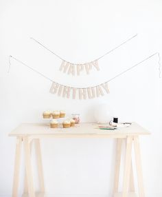 DIY Wood Letter Birthday Garland @themerrythought