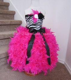 Omg!!!!!!!!!! I want this for payten!!! Feather Dress   Feather Tutu Dress  Zebra by threadedcreations, $125.00