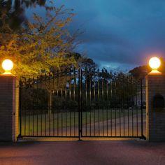 Grand Entrance, Globe Lights, Solar, Led, Stone, Grand Entryway, Rock, Stones, Batu