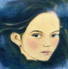 Mystical girl art original mix media by claudiatremblay on Etsy