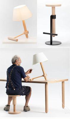 Avvitamenti Furniture Collection //  Diseño: Carlo Contin per Subalterno  Colección de muebles diseñados y hechos a mano. Toda la serie protagonizada por la evocación de los tornillos. En donde expande su función de sujeción para convertirse en parte del propio sistema estructural.