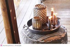 Riverdale Royal Nomads - najaarscollectie 2016 | Als ware nomaden bewegen we ons door de diverse interieurlandschappen van dit najaar. Van luxe items als een fluwelen sofa, goudgekleurde windlichten en handgemaakte kussens tot stoere eyecatchers als grote aardewerken kandelaren, kelim hockers en plaids met grove patronen.