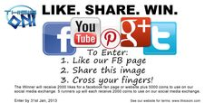 Two easy steps to win Facebook Likes!  You can still get facebook likes free from our webpage