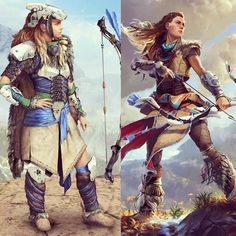 It's funny how many people wrote me and commented today that I AM #Aloy from #horizonzerodawn - She is on my list .. and I think she is more me than #ygritte #elise and #lagertha ... maybe I need to swap from #Zelda to Aloy... ahhhh #cosplayerproblems - and ohohoh different outfit!!! #cosplans #cosplay #ps4 #botwcosplay #aloyhorizonzerodawn
