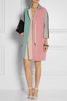 Roland Mouret Paddington color-block crepe coat NET-A-PORTER.COM