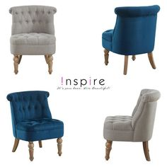 Briana Accent Chair in Beige Beige, Grey, Accent Chairs, Upholstery, Armchair, It Is Finished, Velvet, Living Room, Furniture