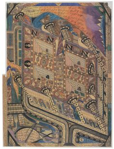Irren=Anstalt Band=Hain (Mental Asylum Band-Copse) by Adolf Wölfli, 1910. Wilhelm Balmer/Adolf Wölfli Foundation, Museum of Fine Arts Berne.