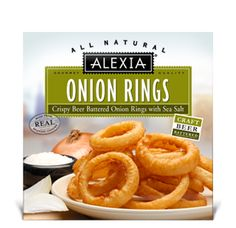 Beer Battered Onion Rings from Alexia Foods. Can't wait to try!   #alexiafoodsbzz and #herestofood   Received coupons to try from BzzAgent  #GotItFree