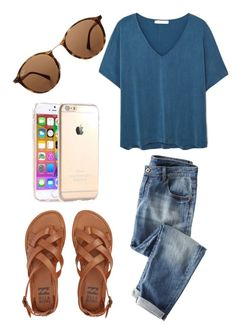"""Untitled #457"" by maddie-farlow ❤ liked on Polyvore featuring Billabong, Wrap, MANGO and Ray-Ban"