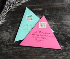Cute triangle letters!
