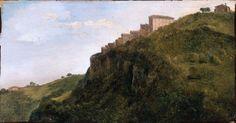 """Jean-Achille Benouville —  """"Italian Hill Town"""" 1847"""
