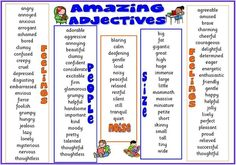 Learn English online with well written articles about grammar, vocabulary and many more. Adjectives To Describe People, List Of Adjectives, English Adjectives, English Vocabulary, Adjective List, Awesome Adjectives, Common Adjectives, Adjectives Activities, Vocabulary Activities