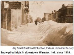 Blizzard+of+1978+Indiana | ... Warsaw, Ind., circa 1915. Courtesy Indiana Historical Society