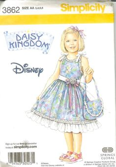 Simplicity daisy kingdom child's dress and by kinfolkneedfulthings, $4.99