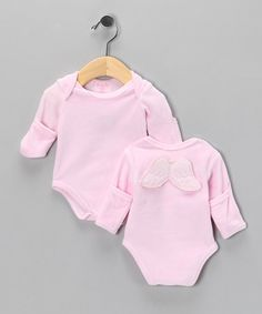 Take a look at this Pink Winged Velour Bodysuit - Infant by Mud Pie on #zulily today!
