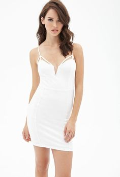 FOREVER 21 Cutout Bodycon Cami Dress