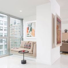 Would you enclose a balcony for more room? The terrace of this #Manhattan #apartment was built out for extra #interior space. The sliding doors were removed and the ceiling and floor heights were leveled out to create a seamless transition. Design by #billinkoffarchitecture \\\ more on designmilk.com by designmilk