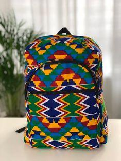Sac à dos imprimé africain Sac à dos Ankara Sac à dos | Etsy Ankara, School Accessories, Black Girl Fashion, Etsy Shop, Backpacks, Clutches, Handmade, Articles, Shopping