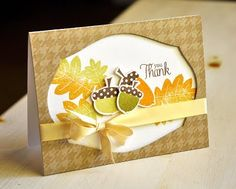 Thank You Card by Maile Belles for Papertrey Ink (August 2011)