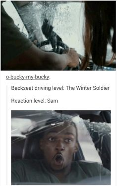 #backseat driving problems #winter soldier #sam wilson