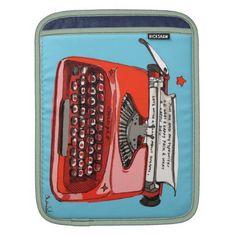 Typewriters Retro Style Rickshaw Sleeve iPad Sleeves