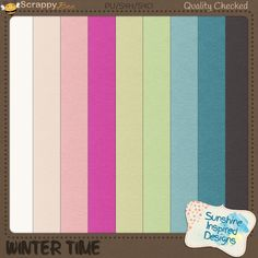 "{Winter Time} Cardstock Pack by Sunshine Inspired Designs is perfect for winter and even Christmas pages. This collection is filled with colorful papers perfect to scrap any kind of winter memories. Its colorful palette is perfect for both boys and girls, adults and children!  Winter Time Cardstock Pack includes: 9 digital solid papers (one in each color of the colorful palette), 12""x12"" 300 dpi, in jpg file."