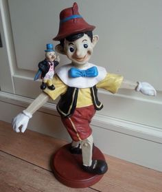 "Big 12"" Beautiful RARE Pinocchio Collectible Standing Fig Figure Figurine Statue 