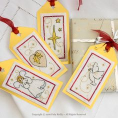 Christmas Tags (White Series) - Faby Reilly Designs