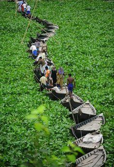 A Beautiful Floating Boat Bridge