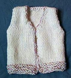Toddler Vest Knitting Pattern - free pattern,sized for age 2-5