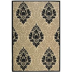 @Overstock.com - Indoor/ Outdoor St. Barts Sand/ Black Rug (6'7 x 9'6) - Add a touch of elegance to your home decor with a transitional rug Fine-spun polypropylene rug can also be used inside or outdoors  Outdoor area rug is highlighted with sand and black shades   http://www.overstock.com/Home-Garden/Indoor-Outdoor-St.-Barts-Sand-Black-Rug-67-x-96/4138284/product.html?CID=214117 $116.09