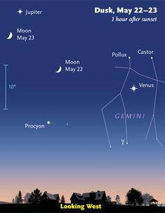 This Week's Sky at a Glance, May 22 – 30