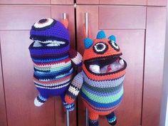 Moustro come bolsa a crochet
