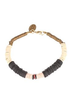 Bracelet perles colorées Agnès Noir Maison Scotch en promotion sur MonShowroom.com