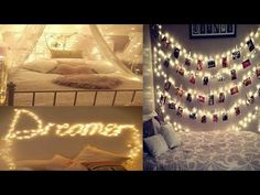 Back with another great video with full of superb ideas to decorate your room for any occasion. If you guys like this video, give it a big thum. Fairy Lights Room, Photo Wall Decor, Room Ideas, Decor Ideas, Decorate Your Room, Great Videos, Bedroom Lighting, Cool Rooms, Decoration