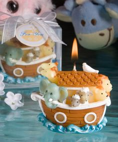 Love this Noah's Ark Candle as a christening favour