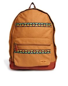 ASOS Backpack with Aztec Trim