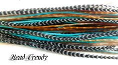 10 Feather Hair Extensions Whiting Saddle Long SANTE by headtrendz, $14.99  Amazing feathers , so reasonable.