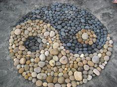 beach yin yang