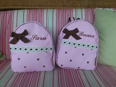 Mochilas y más mochilas.................. Mini Mochila, Baby Ideas, Diy, Personalized Backpack, Backpacks, Atelier, Gift, Meet, Bags