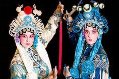 Western actors in full costume  for Beijing opera