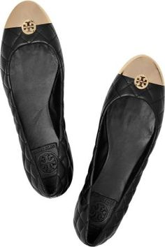 tory burch quilted leather flats by P.M.Y.