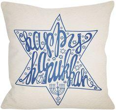 One Bella Casa Happy Hanukkah Pillow