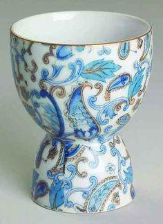 Lefton Blue Paisley NE2131 Double Egg Cup 6134313 | eBay