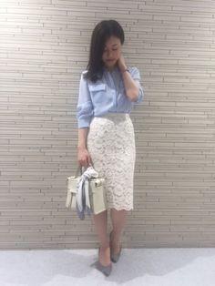 レースタイトスカート ON/OFFコーデ
