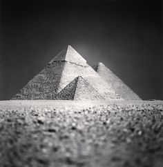 Giza Pyramids, Study 5, Cairo, Egypt   From a unique collection of black and white photography at https://www.1stdibs.com/art/photography/black-white-photography/