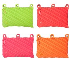 Make it bright! Neon 3 Ring Pouch - 4 Pack