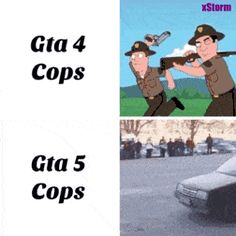 GTA 4 Cops VS. GTA 5 Cops