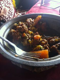 Morrocan Lamb Taklia Tagine: Recipe from the edges of the Sahara. It has a wonderful depth of flavour and can be prepared in around 30 minutes, then simmer away for a couple of hours while you dream of a hammock in the desert.